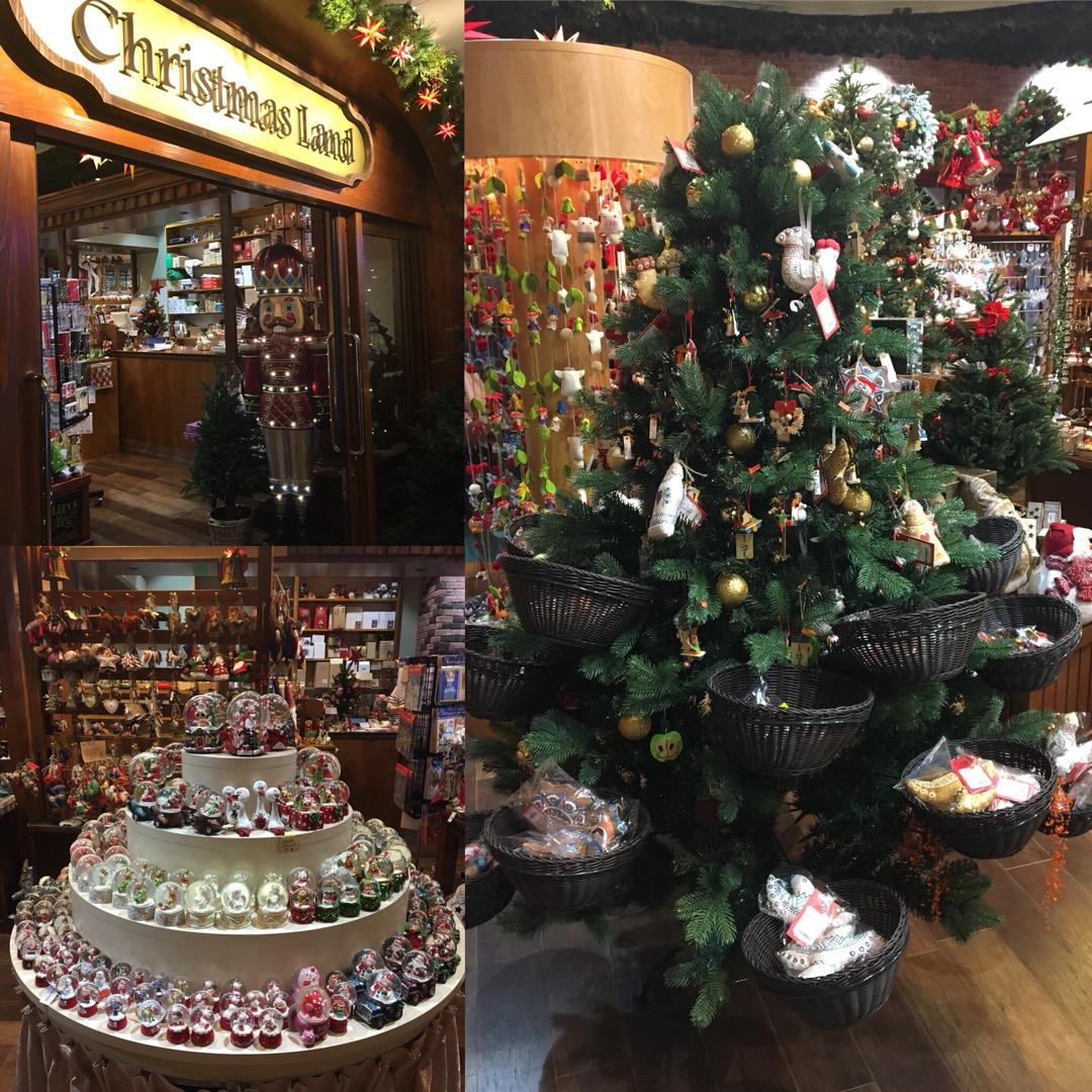 """クリスマス用品を扱っているその名も""""クリスマスランド""""はクリスマス..."""