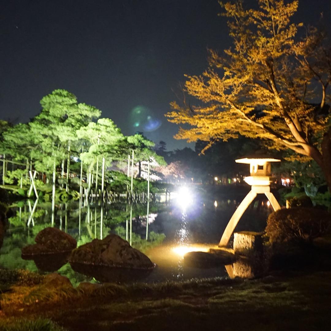 年に何度か開催される兼六園のライトアップ。名所だけライトアップされ...