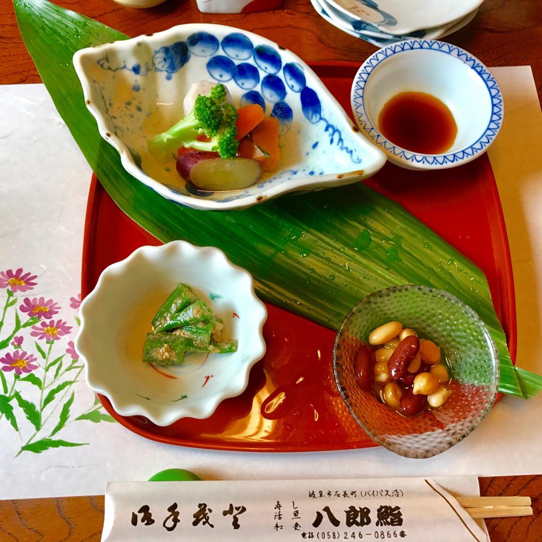 岐阜市の八郎鮨のランチコース🍣これは最初の前菜になりますが、この後...