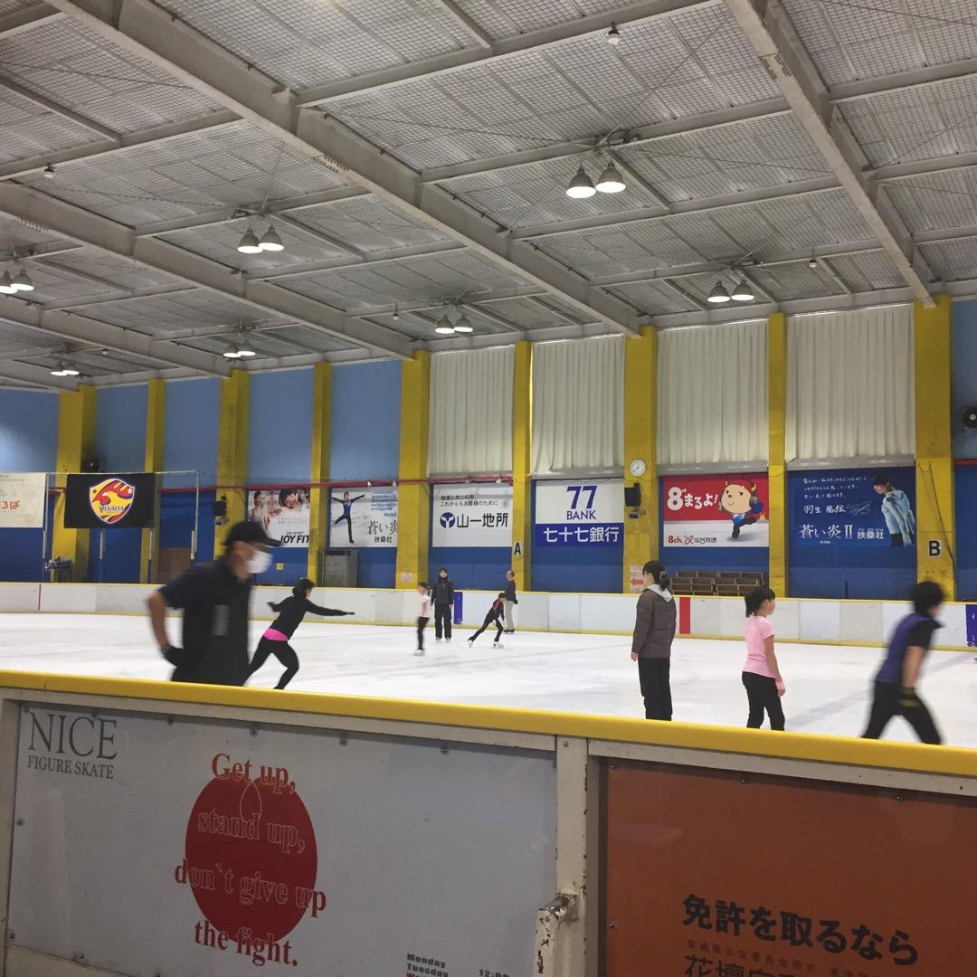 久しぶりに行ってみましたアイスリンク仙台。スケートのオリンピック選...