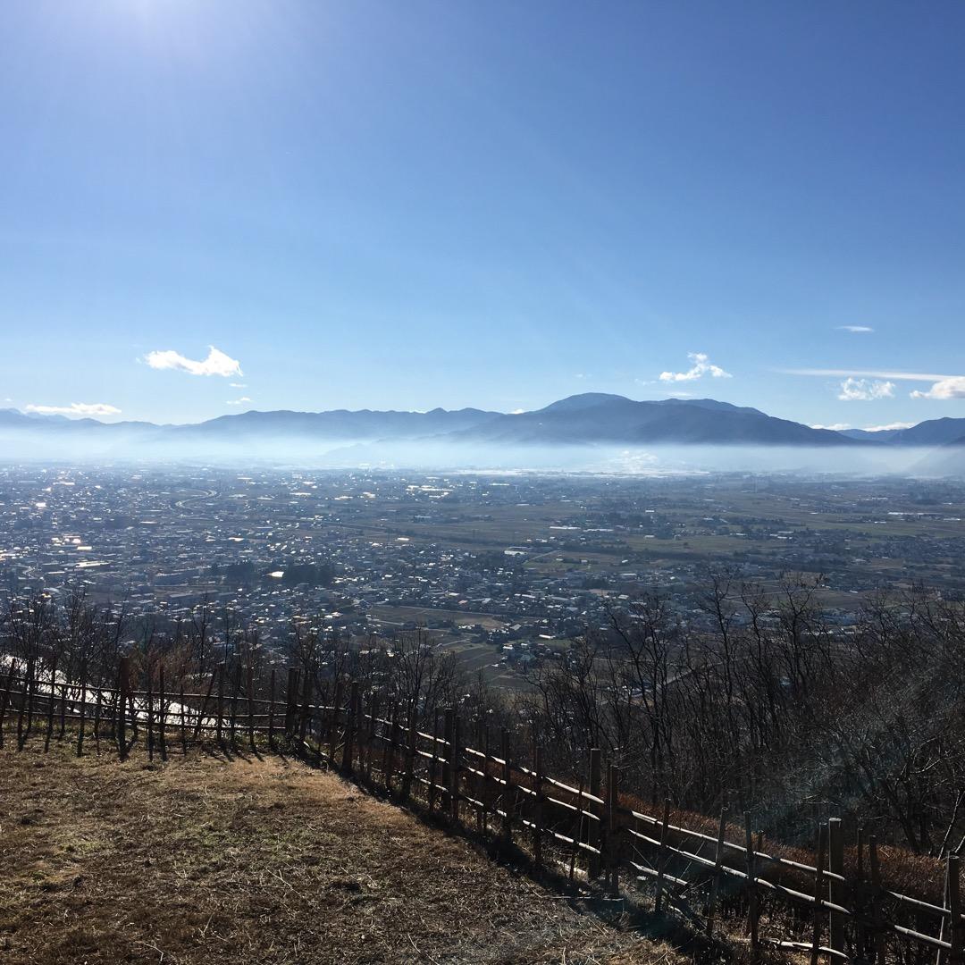 松本市のアルプス公園。安曇野〜松本まで見渡せます(^ ^) 標高が...