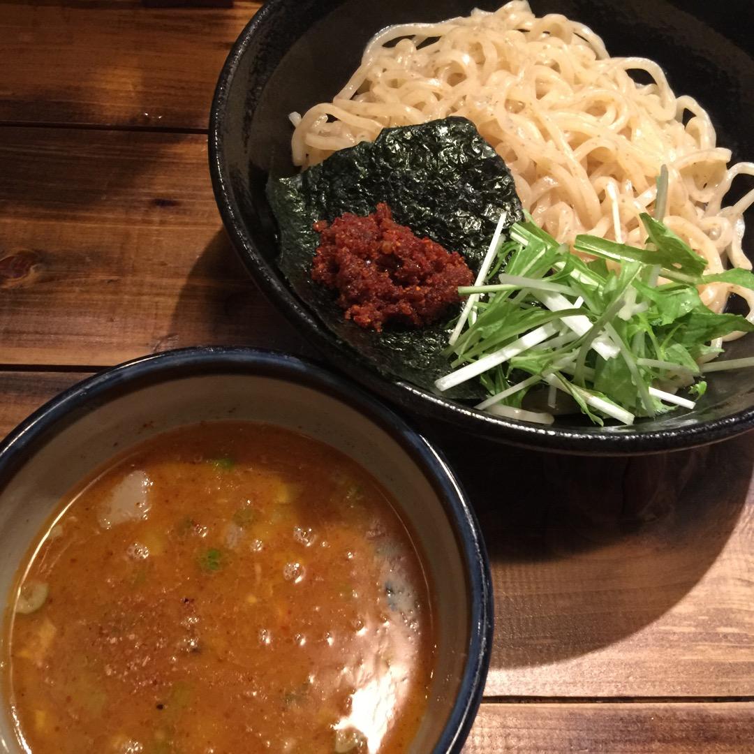 #富士吉田 の#つけ麺 のお店。#じゃジャ旨 「えび旨辛つけ麺」を...
