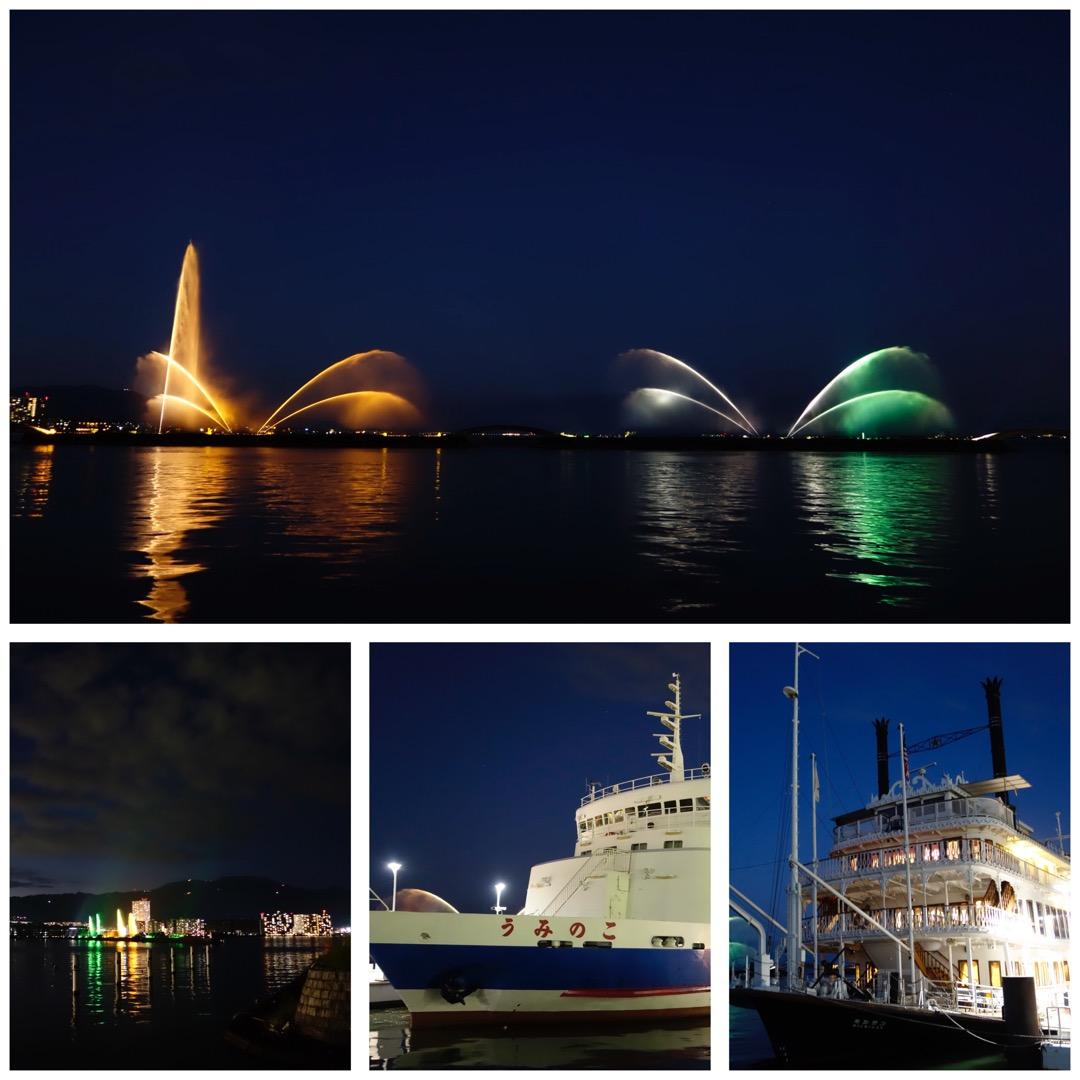 【琵琶湖*大津港】日暮れの琵琶湖は、なんだか綺麗でした。夜のミシガ...