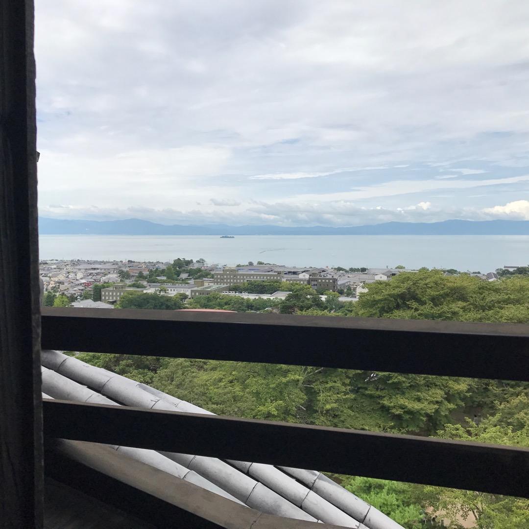 彦根城からの眺め。✨ #彦根城 #井伊直弼 #琵琶湖 #ひこにゃん