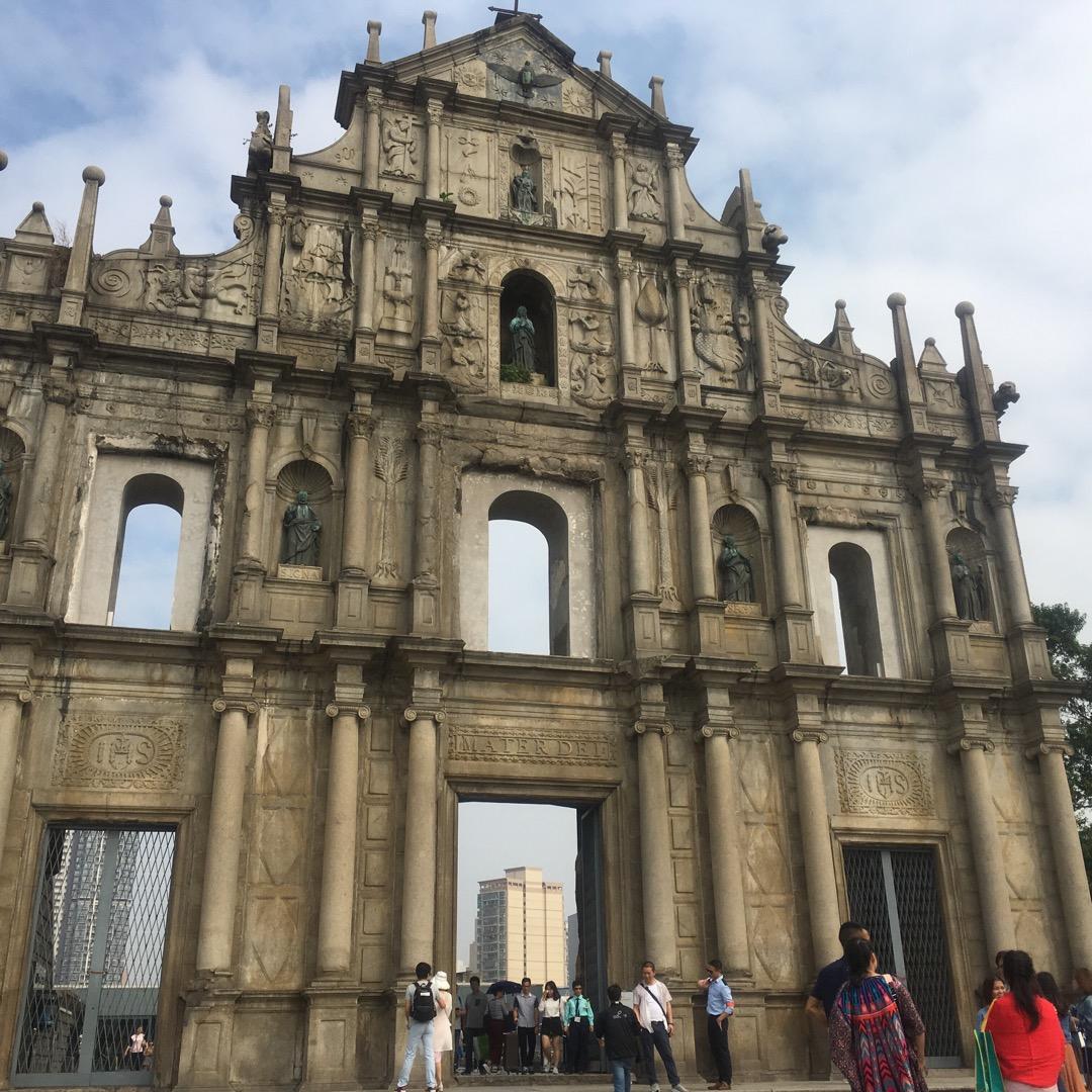 聖ポール天主堂跡 本堂は木造で火事で焼けてしまい、入口の石造部分し...