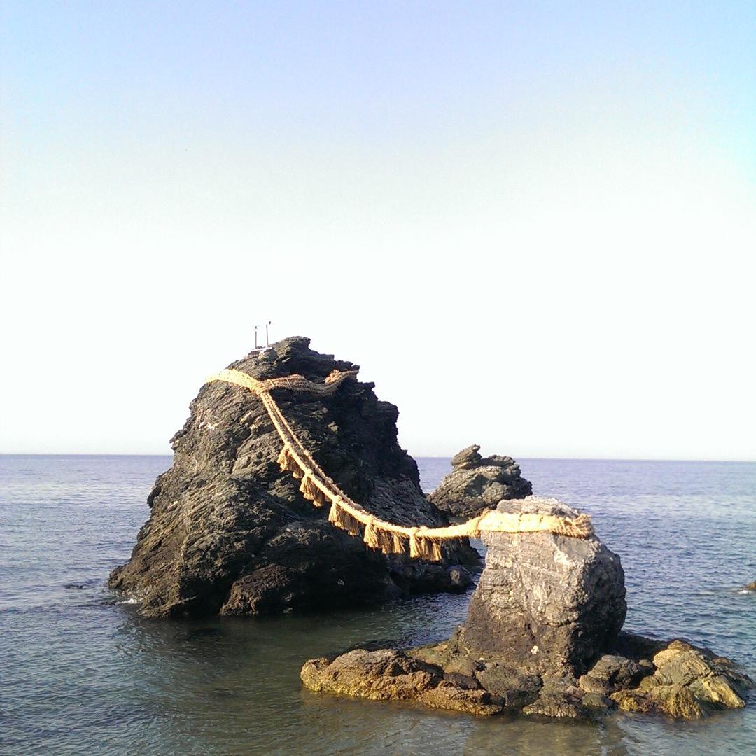三重県の夫婦岩!水族館も近くにあって、ついでに見に来ました。ここ快...
