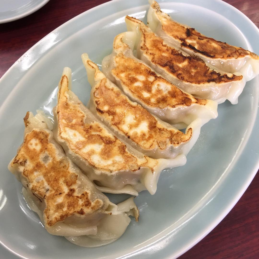 #マンシュウ餃子 満北亭 大きくて肉と野菜がたっぷり詰まった餃子が...