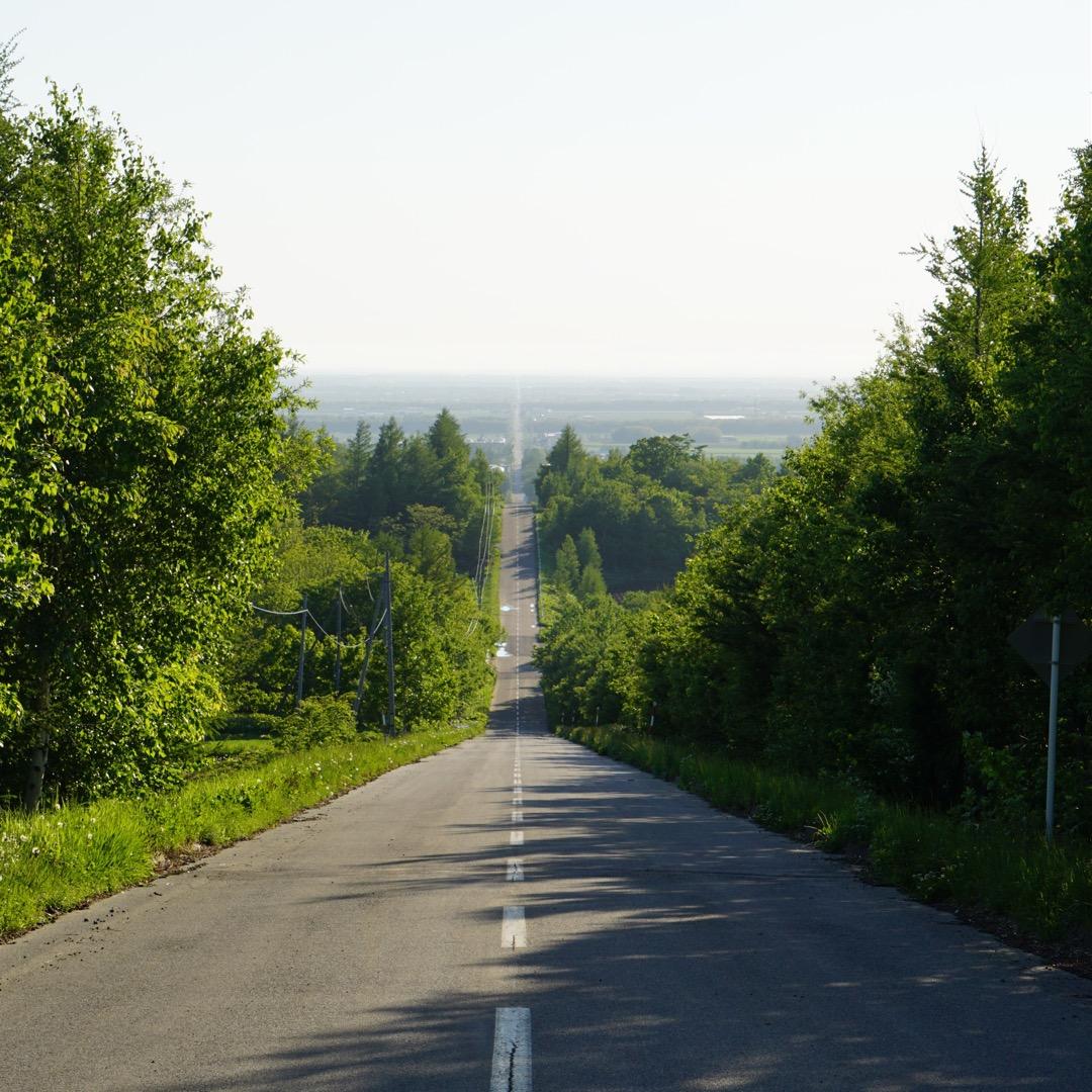天に続く道👼 国道334.244の全長約18kmの直線道路✨ はる...