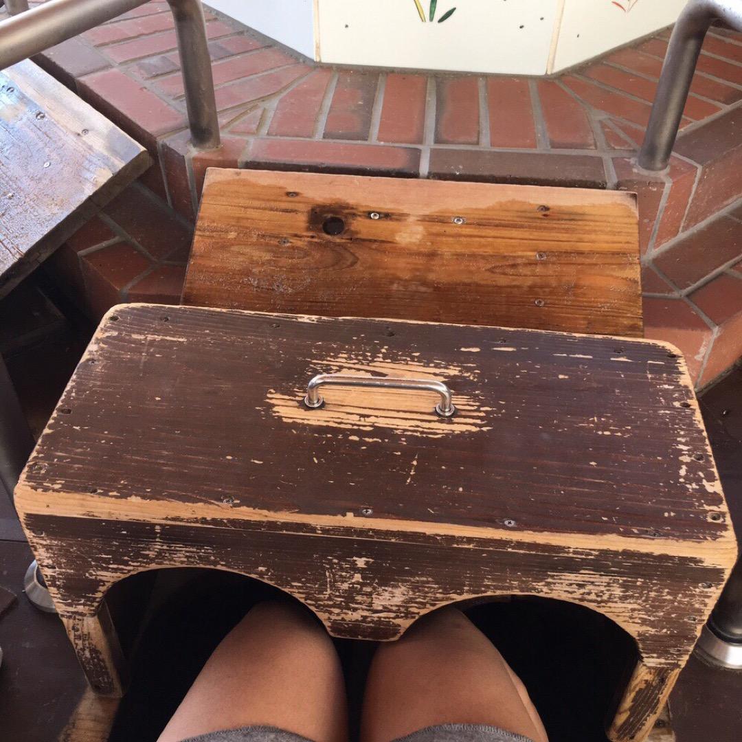 足湯ならぬ 足専用の蒸し風呂  嬉野温泉街にありますよ⁽⁽ ◟(∗...