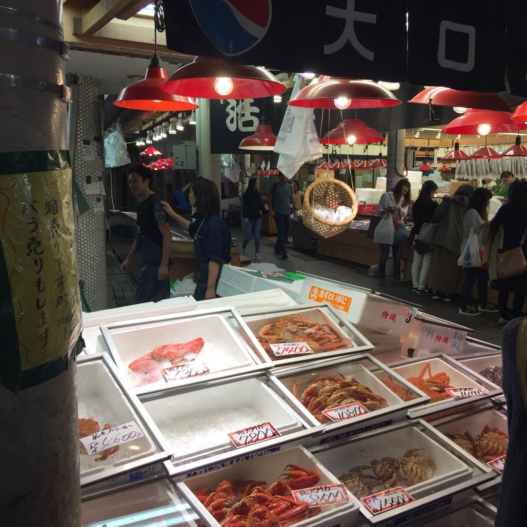 #近江町いちば 金沢のカニの解禁は11/6からなので地元産ではあり...