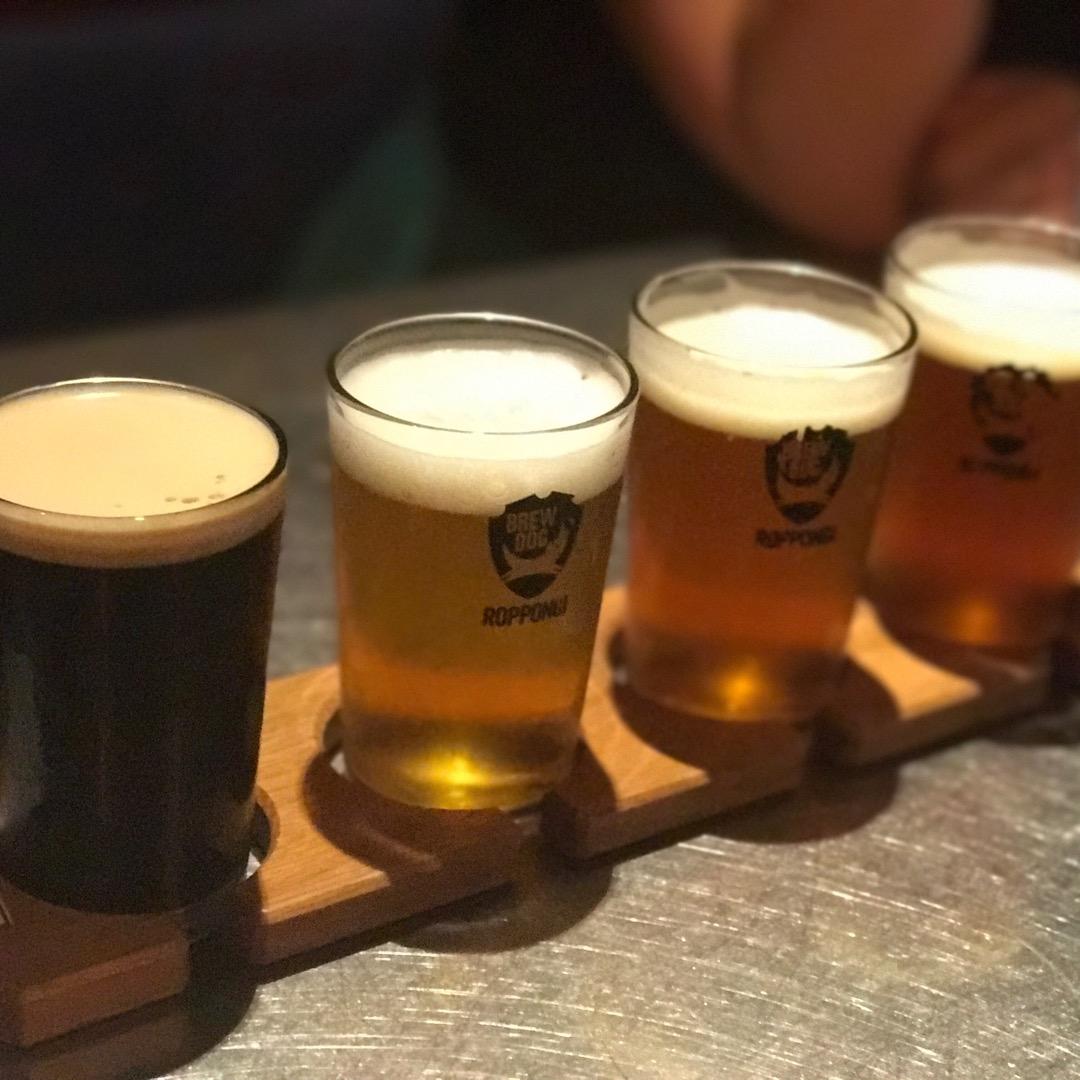 BrewDog Roppongiの飲み比べセット☆ ビール好きには...