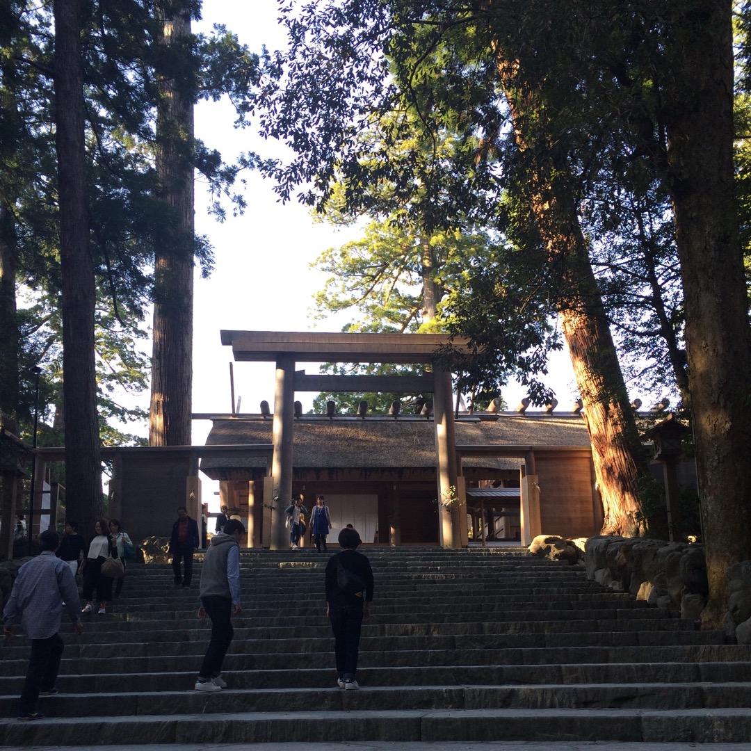 天照大御神が祀られているという皇大神宮です。 ここが伊勢神宮の内宮...